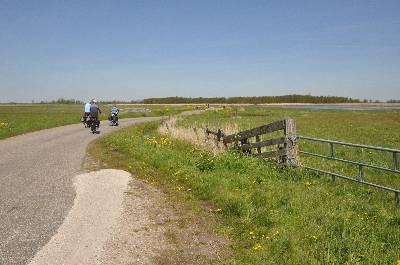 Recreanten op de Lagendijk bij Krommeniedijk