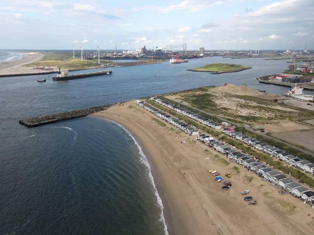 IJmuiden. Monding Noordzeekanaal.