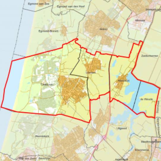 Gemeente Castricum - kaartje