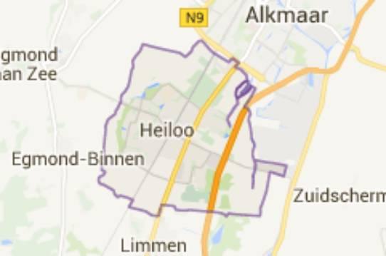 Gemeente Heiloo - kaartje
