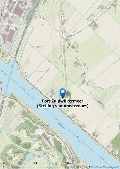 kaart fort zuidwijkermmeer