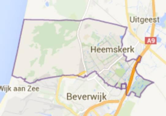 Gemeente Heemskerk - kaartje