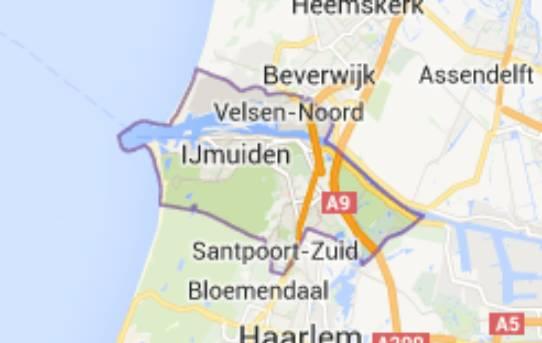 Gemeente Velsen - kaartje