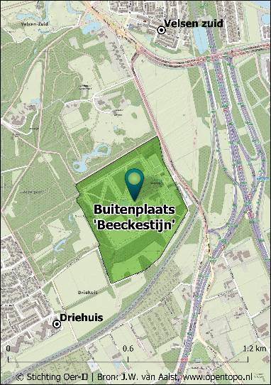 Bloemenwaaier in de stijltuinen van Buitenplaats Beeckestijn in Velsen-Zuid